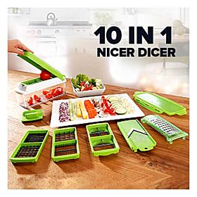 10 in 1 Nicer Dicer Plus Multi Chopper Vegetable Cutter Fruit Slicer,