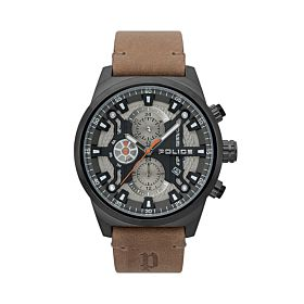 Police Men's Chandler Leather Analog Watch P 15383JSB-04
