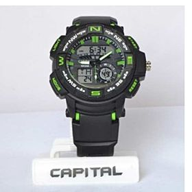Capital Sport Watch For Men Analog-Digital Rubber - sp56843