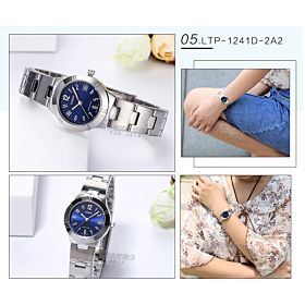 Casio Metal Fashion Watch For Ladies LTP-1241D-2A2