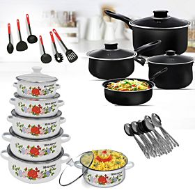 Special Combo Offer(13PCS NonStickcookware+10 PCS CasseroleSet)