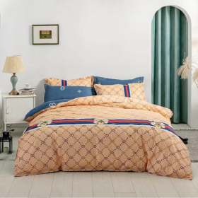 DEALS FOR LESS - Queen/Double Size, Duvet Cover, Bed Sheet Set of 6 Pieces,  Designer Inspired , 1 Duvet cover + 1 bedsheet + 4 pillow covers.