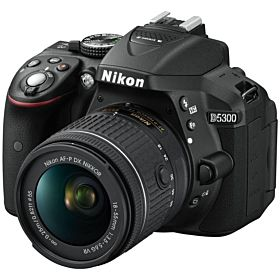 Nikon D5300 AF-P 18-55mm 3.5-5.6G VR - 24 MP SLR Camera, Black