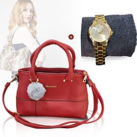 Leboilu Ladies Bag + Rizen Ladies watch (2 IN 1 BUNDLE OFFER)