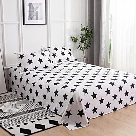 Deals For Less Bedding Set of 3 Pieces, Black Stars Design