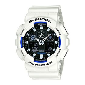Casio Men's G-Shock GA100B-7ADR White watch