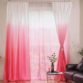 DEALS FOR LESS - 2 Pieces Pink Ombre Design Window Curtains