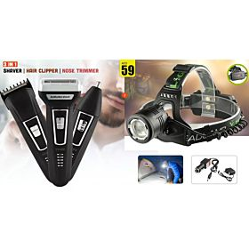 YOKO Hair Trimmer+Outdoor Sport Headlamp(2 IN 1 bundle)