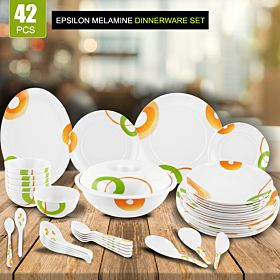 Epsilon 42 Pcs Melamine Dinnerware Set