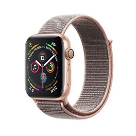 Apple Watch Series 4 GPS Gold Aluminum Case With Pink Sand Sport Loop 40mm