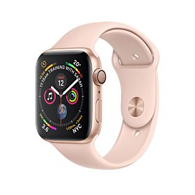 Apple Watch Series 4 GPS Gold Aluminum Case With Pink Sand Sport Band 44mm