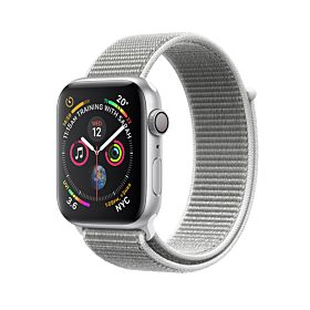 Apple Watch Series 4 GPS Silver Aluminium Case With Seashell Sport Loop 44 m