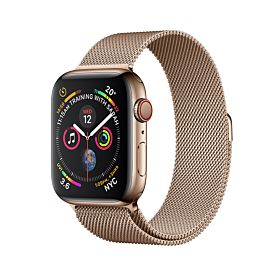 Apple Watch Gold Stainless Steel Case with Gold Milanese Loop 44mm