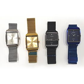 4 PCs Stainless Steel Men's Mesh Strap with Magnet Buckle Watches