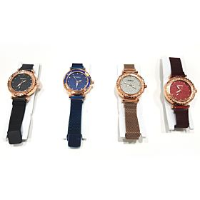 4 PCs Luxury Stylish Magnetic Buckle Casual Wristwatch
