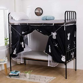 DEALS FOR LESS - Lower Deck Single Bed, Privacy Bed Tent with Mosquito Net, Kaws Design