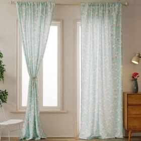 DEALS FOR LESS - 2 Piece Floral Design Window Curtains