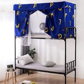 DEALS FOR LESS - Bed curtain & metal frame , Privacy Bed Tent with Mosquito Net, Letters Design