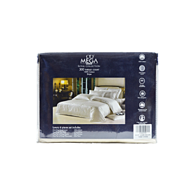 Duvet cover mega royal collection , stripped pattern , 300 tc , KING