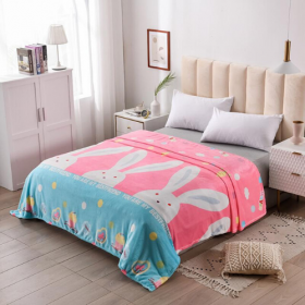 Deals for Less - Fleece Blanket, Double Size, Bunny  Design.