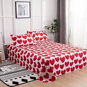 Deals For Less Bedding Set of 3 Pieces, Hearts Design