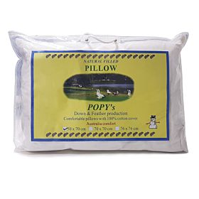 Pillow Down Feather  Popy 100% Cotton Cover
