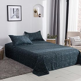 Deals For Less Bedding Set of 3 Pieces, Green Marble Design