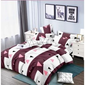 6 Pcs Duvet Cover Set King Size LS - Maroon