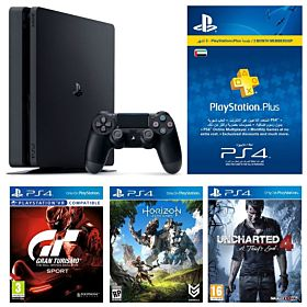 Sony Playstation 4 500GB Hits Bundle V3 with 3 Months PSN, Black