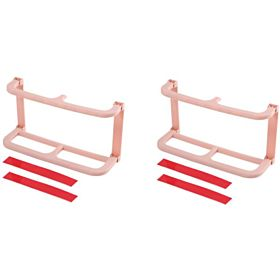 Home Shoe Shelf Plastic Wall Mounted Shoes Rack for Entryway Over The Door Shoe Hangers Organizer Hanging Shoe Storage Racks, 2pcs Pack(Pink)