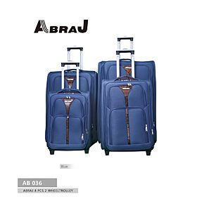 Abraj Four Pcs 2 Wheel Luggage Trolley Bag - AB036