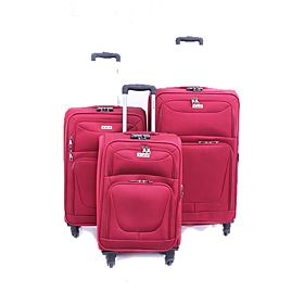 ABRAJ 3 Pcs 4 Wheel Luggage Trolley Bag - ABTR3123