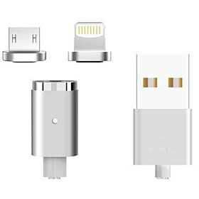 Aleesh Mini 2 Magnetic Charger Cable Micro USB Lightning Plug for iPhone Android