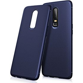 For Oneplus 6 Case One Plus 6 Cover Twill Soft TPU Silicone Back Phone Cases Oneplus6 Phone Cover For Oneplus6 Skin Blue