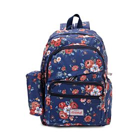 Arcad Floral Print Backpack With Pencil Pouch 33115