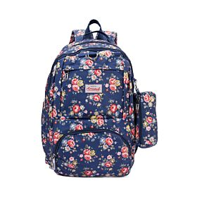 Arcad Floral Print Backpack With Pencil Pouch 33263