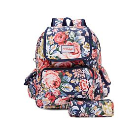 Arcad Floral Print Backpack With Pencil Pouch Multi 33117