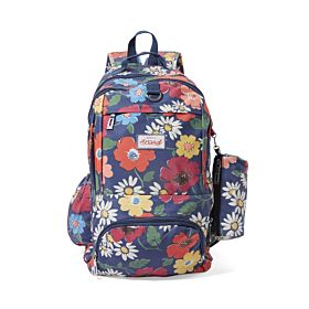 Arcad Floral Print Backpack With Pencil Pouch Multi 33118