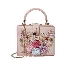 Arcad Flower Décor Crossbody Bag Pink 33304
