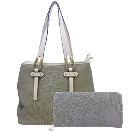 Arcad Satchel Bag With Wallet Beige