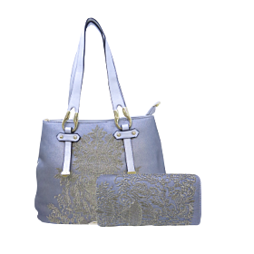 Arcad Satchel Bag With Wallet Silver