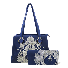 Arcad Satchel Bag With Wallet Unique Blue 30075