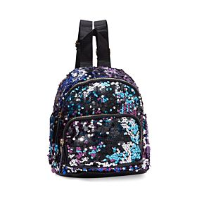 Arcad Sequin Design Backpack Blue 33321