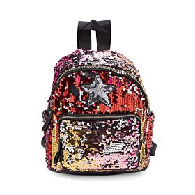 Arcad Sequin Design Backpack Red 33322