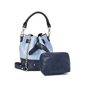 Arcad Stitch Detailed Bucket Bag With Pouch Blue 33511