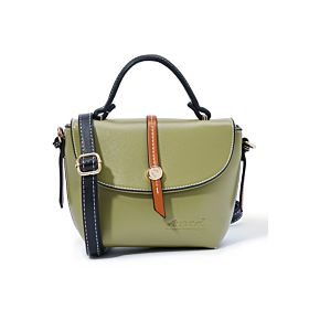Arcad Stitch Detailed Satchel Bag Green 33550