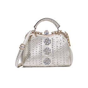 Arcad Stone Embellished Shoulder Bag Gold 33298
