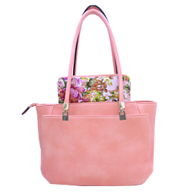 Arcad Tote Bag With Wallet Light Pink 30016