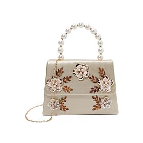 Arcad Unique Accent Satchel Bag Beige 32750