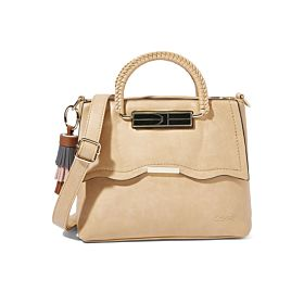 Arcad Unique Accent Shoulder Bag Beige 33287